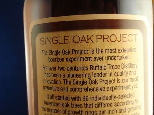 Buffalo Trace Single Oak 175rear label