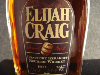 Elijah Craig Barrel Proof Label Closeup