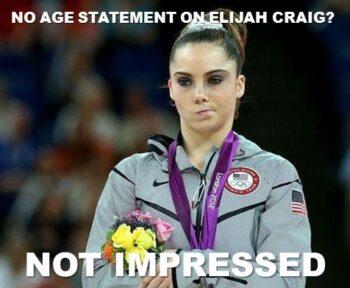Maroney Elijah Craig not impressed