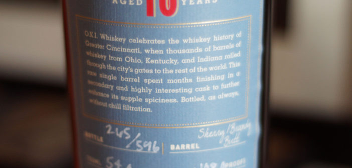 O.K.I. 10 Year Bourbon finished in Sherry/Brandy Casks