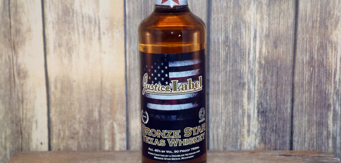 Justice Label Bronze Star Texas Whiskey