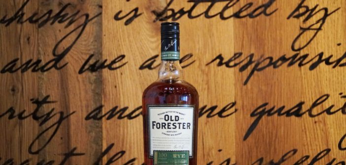 Announcing Old Forester Rye Whiskey